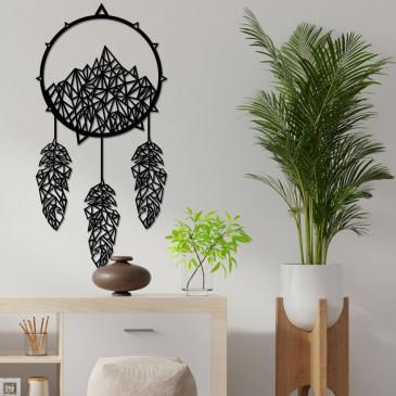 """Декоративное панно из дерева """"Ловец снов в горах"""""""