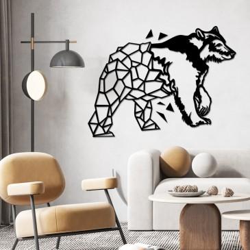 """Декоративное панно из дерева """"Poligonal Bear"""""""