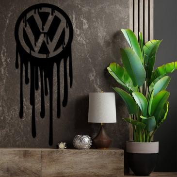 """Декоративное панно из дерева """"Volkswagen"""""""