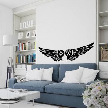 """Декоративное панно из дерева """"Volkswagen крылья"""""""