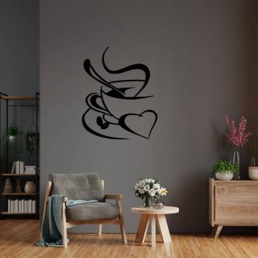 """Декоративное панно из дерева """"Love Coffee"""""""
