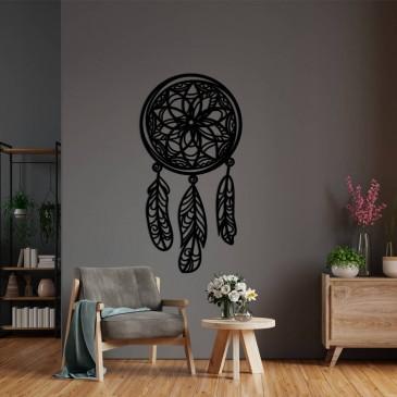 """Декоративное панно из дерева """"Ловец снов"""""""