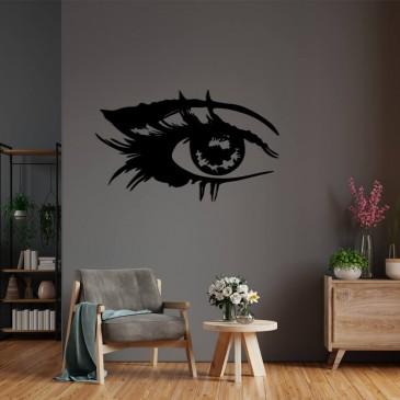 """Декоративное панно из дерева """"Глаз девушки"""""""