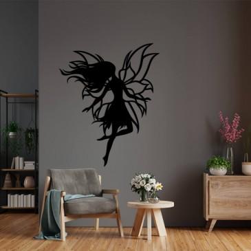"""Декоративное панно из дерева """"Волшебная фея"""""""