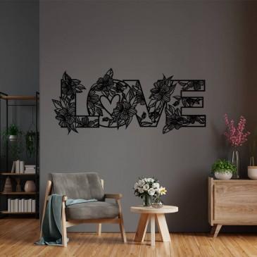 "Декоративное панно из дерева ""Love в цветах"""