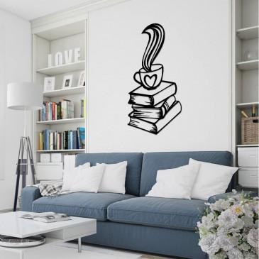 """Декоративное панно из дерева """"Coffee & Books"""""""