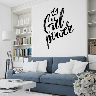 """Декоративное панно из дерева """"Girl Power"""""""