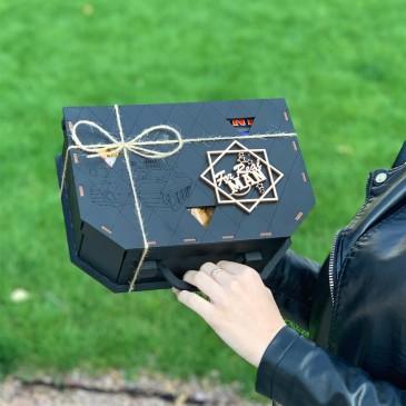 """Подарочная коробка из дерева """"Чемодан"""" (пустая)"""