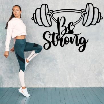 "Декоративное панно из дерева ""Be Strong"""