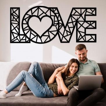 """Декоративное панно из дерева """"LOVE"""""""