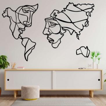 "Декоративное панно из дерева ""Карта мужчина и женщина"""