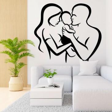 """Декоративное панно из дерева """"Полноценная семья"""""""