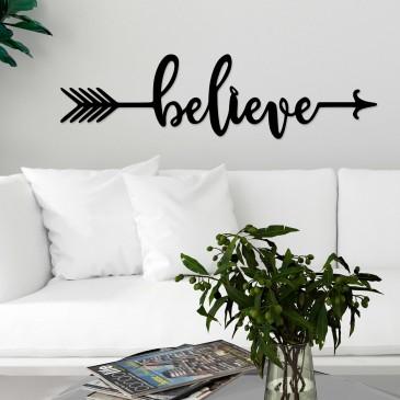 "Декоративное панно из дерева ""Believe"""